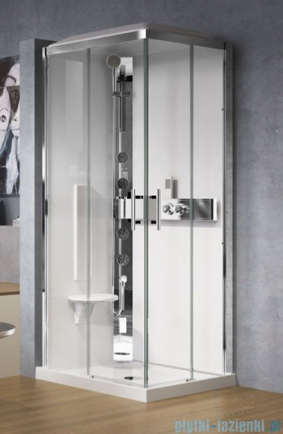 Novellini Glax 3 kabina standard 90x70 lewa srebrny GL3A7090SM-1B
