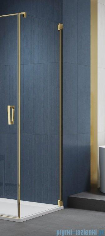 SanSwiss Cadura Gold Line ścianka boczna 110x200cm profile złote CAT11101207