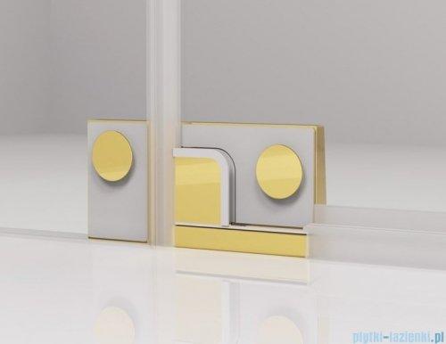 SanSwiss Cadura Gold Line drzwi wahadłowe 90cm jednoczęściowe lewe z polem stałym CA13G0901207