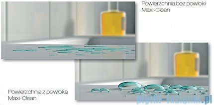 Roca Hall Umywalka 65x42cm asymetryczna powłoka Maxi Clean A32762000M