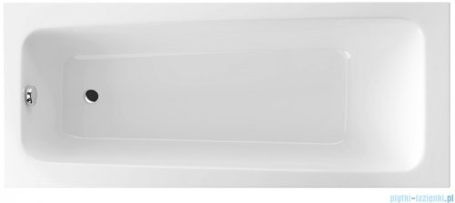 Wanna prostokątna Excellent AVA 160x70 biała z nogami WAEX.AVA16WH
