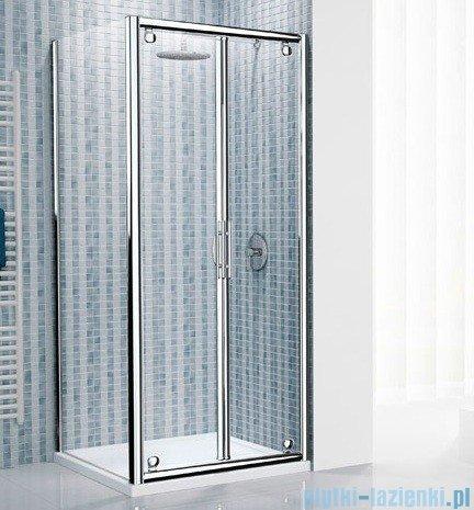 Novellini Drzwi prysznicowe składane LUNES B 66 cm szkło przejrzyste profil biały LUNESB66-1D