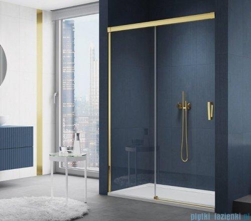 SanSwiss Cadura Gold Line drzwi przesuwne 180cm jednoskrzydłowe lewe z polem stałym CAS2G1801207