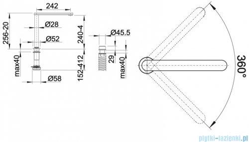 Blanco Elos Cope-f II bateria wysokociśnieniowa chrom 516672