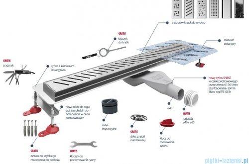 Wiper New Premium Zonda Odpływ liniowy z kołnierzem 100 cm poler