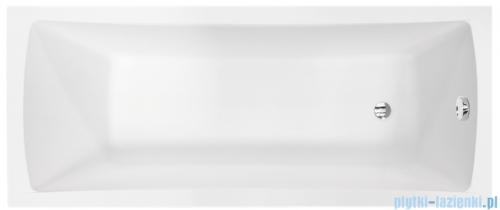 Besco Optima Premium 160x70cm wanna prostokątna z uchwytami i zagłówkiem + obudowa + syfon