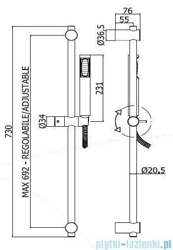 Paffoni Zestaw natryskowy Stick New ZSAL150CR