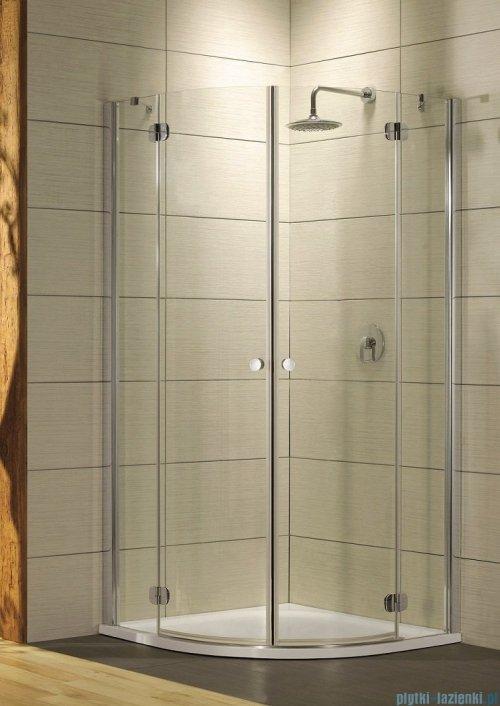 Radaway Torrenta PDD E Kabina prysznicowa 90x80 szkło grafitowe + Brodzik Siros E Compact lewy + syfon