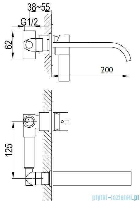 Kohlman Dexame Podtynkowa bateria umywalkowa QW183D
