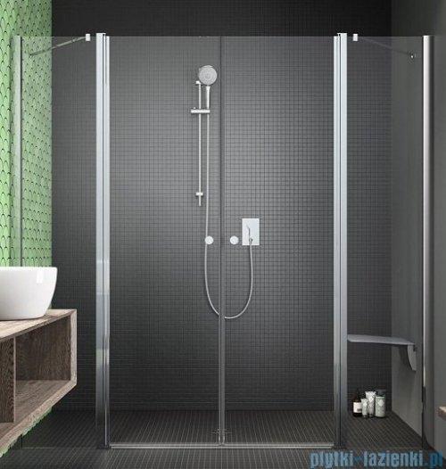 Radaway Eos II Dwd drzwi prysznicowe 150x195 W1 szkło przejrzyste