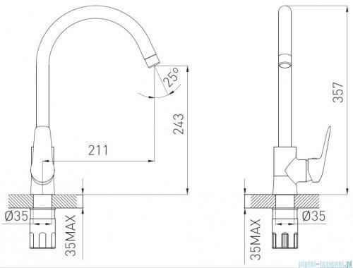 Ferro Dijon Bateria zlewozmywakowa stojąca BDJ4