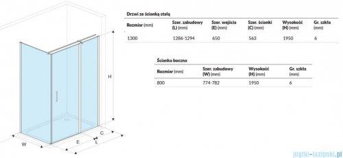 Excellent Mazo kabina prostokątna 130x80 cm przejrzysta