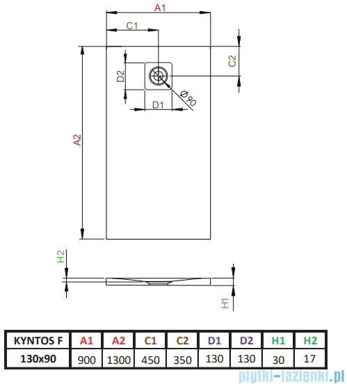 Radaway Kyntos F brodzik 130x90cm biały HKF13090-04