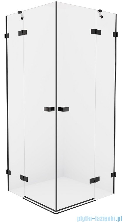 New Trendy Avexa Black kabina kwadratowa 80x90x200 cm przejrzyste EXK-1609