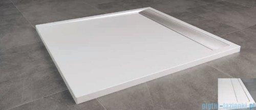 SanSwiss Ila WIQ Brodzik kwadratowy 80x80cm kolor biały/biały WIQ0800404