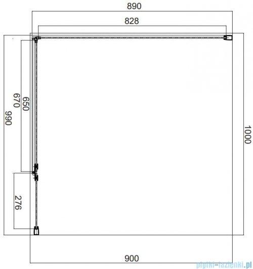 Omnires Manhattan kabina prostokątna 100x90cm szkło przejrzyste MH1090CRTR