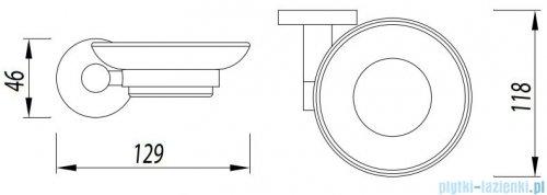 Omnires Modern Project mydelniczka wisząca chrom MP60420CR