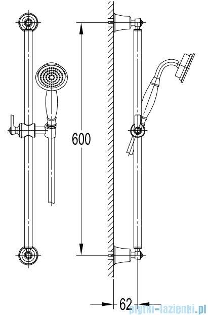 Omnires Armance-S zestaw prysznicowy suwany 1-funkcyjny chrom Armance-SCR