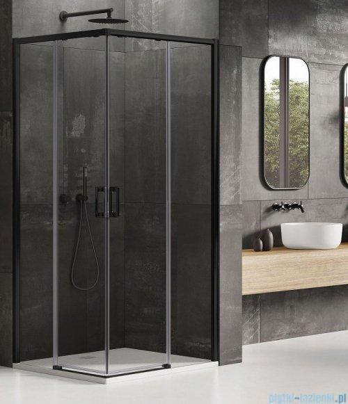 New Trendy Prime Black kabina prostokątna 70x110x200 cm przejrzyste D-0350A/D-0319A