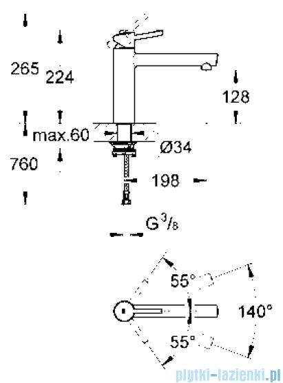 Grohe Concetto jednouchwytowa bateria zlewozmywakowa DN 15 31210001