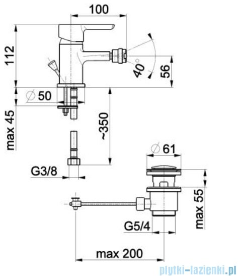 KFA Granat bateria bidetowa, kolor chrom 5527-015-00