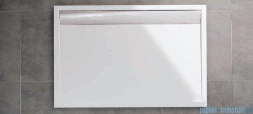 SanSwiss WIA Brodzik konglomeratowy prostokątny 80x90cm czarny/połysk WIA8009050154