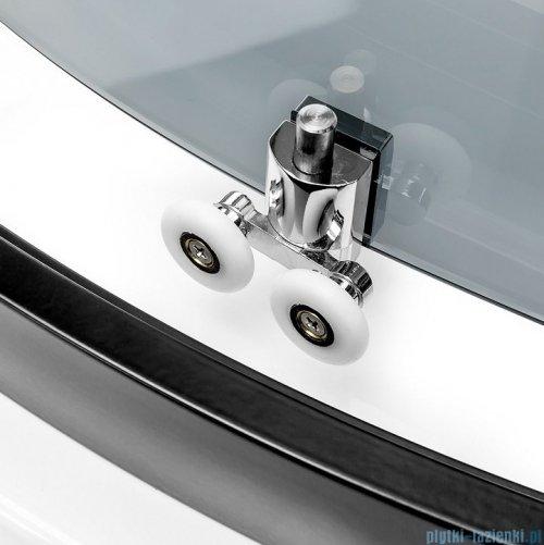 New Trendy New Varia Black kabina półokrągła 90x90x190 cm grafit K-0452