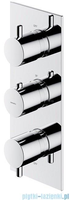 Omnires Y bateria podtynkowa termostatyczna 3-wyjściowa element natynkowy chrom Y1238/KROCR