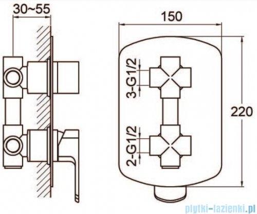 Kohlman Foxal zestaw prysznicowo-wannowy chrom QW211FR35
