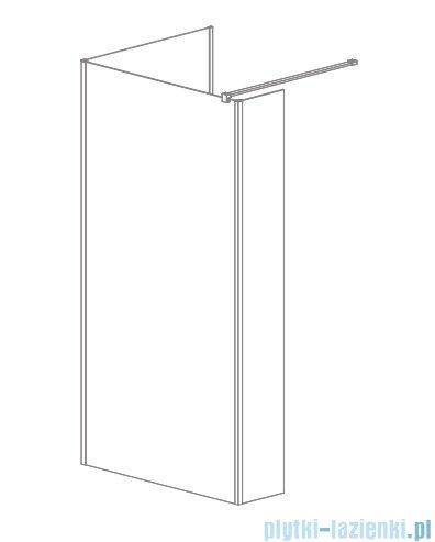 Radaway Modo New IV kabina Walk-in 130x100 szkło przejrzyste 389634-01-01/389104-01-01