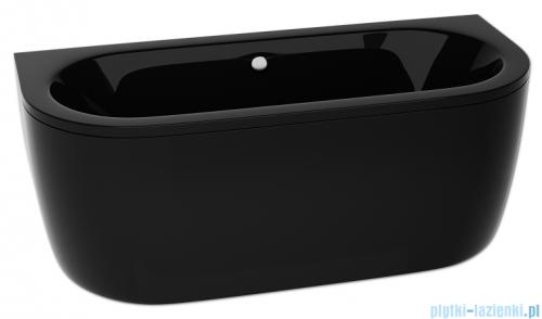 Besco Vista black wanna 140x75cm wolnostojąca przyścienna czarna z syfonem #WKV-140-WSCZARNA