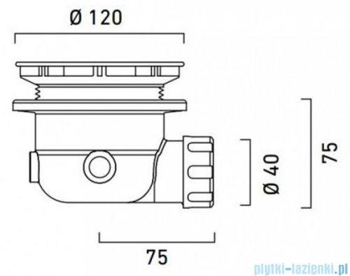 Catalano Syfon brodzikowy Q90 chrom AC5010N