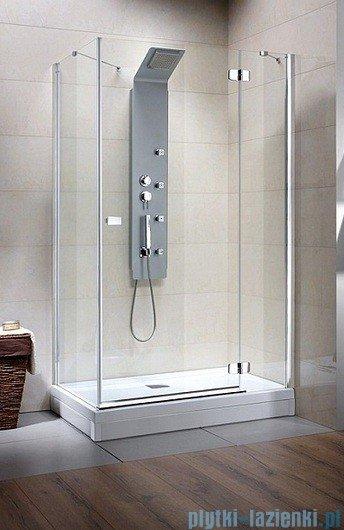 Radaway Kabina prysznicowa Fuenta KDJ 80x90 prawa szkło grafitowe
