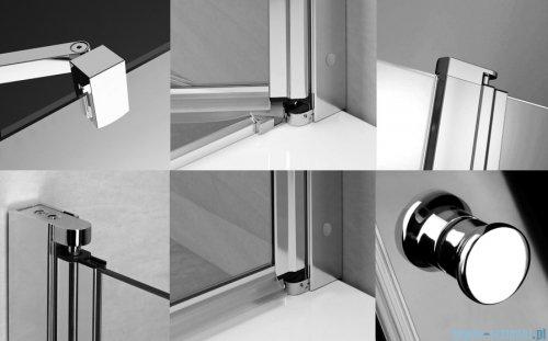 Radaway Eos II Dwd drzwi prysznicowe 200x195 W1 szkło przejrzyste 3799103-01-01/3799970-01-01