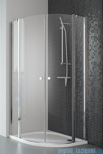 Radaway Eos II PDD kabina prysznicowa 80x80 szkło przejrzyste + brodzik Delos A + syfon
