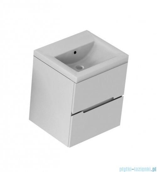 Oristo Silver szafka z umywalką 50x55x44cm szary mat OR33-SD2S-50-4/UME-SI-50-92