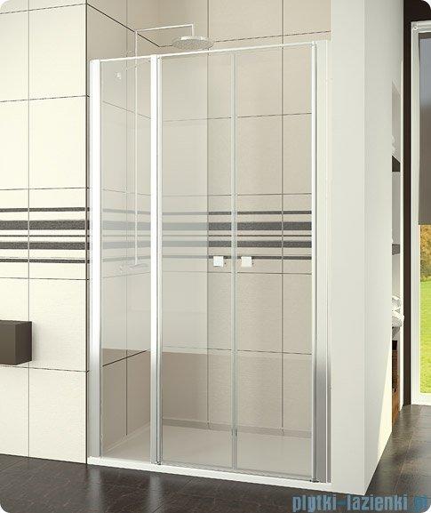 SanSwiss Swing-Line Drzwi 2-częściowe ze ścianką stałą w linii wymiary specjalne 120-160cm SL32SM20107
