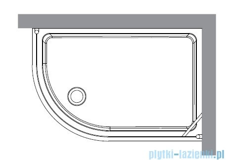 Kerasan Kabina półokrągła lewa szkło przejrzyste profile złote 80x120 Retro 9138T1