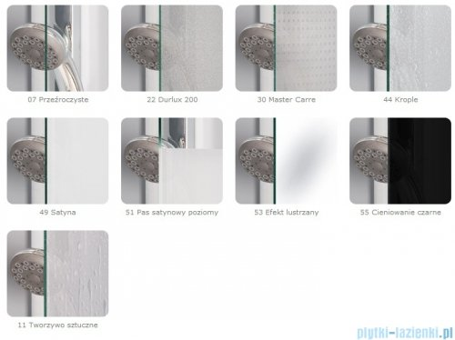 SanSwiss Top-Line TOPB2 Parawan nawannowy 2-częściowy 120-180cm profil biały TOPB2SM10407
