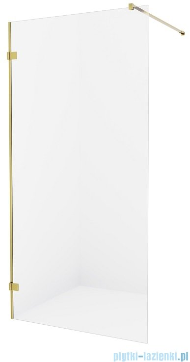 New Trendy Avexa Gold kabina Walk-In 110x200 cm przejrzyste EXK-1796