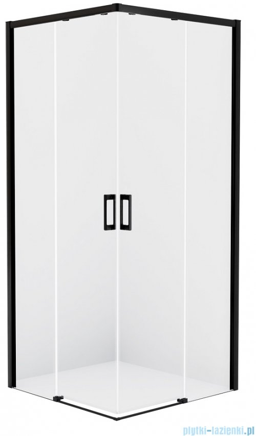 New Trendy Prime Black kabina prostokątna 90x100x200 cm przejrzyste D-0314A/D-0317A