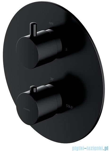 Omnires Y bateria podtynkowa termostatyczna 2-wyjściowa element natynkowy czarny Y1236ROBL
