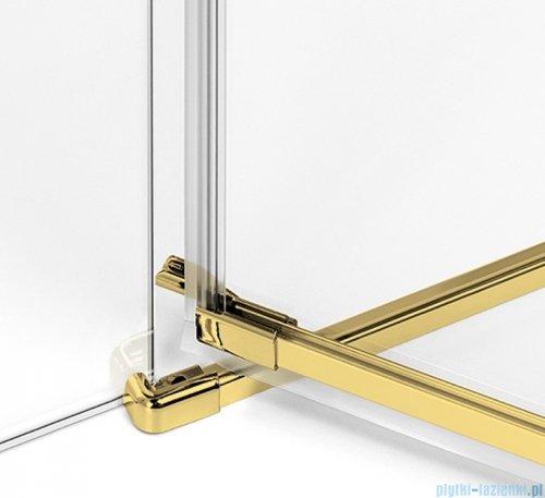 New Trendy Avexa Gold kabina kwadratowa 90x90x200 cm przejrzyste prawa EXK-1745