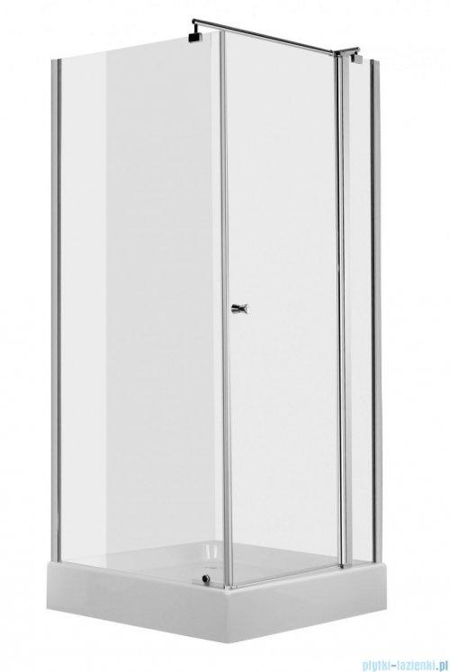 Deante Cubic Kabina kwadratowa z drzwiami uchylnymi 80x80x195cm KTI 044P