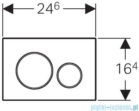 Geberit Sigma20 Przycisk uruchamiający biały/chrom błyszczący/biały 115.882.KJ.1