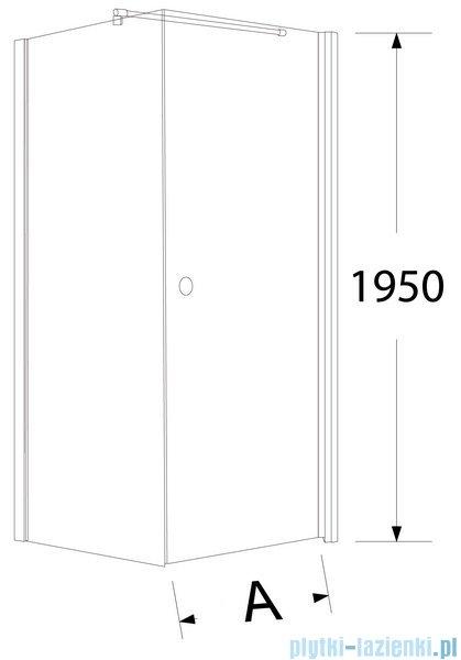 Sea Horse Fresh Line kabina narożna z powłoką kwadratowa drzwi pojedyncze 90x90cm prawa BK259TP+