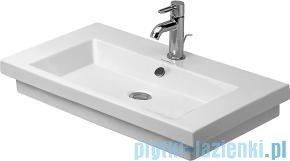 Duravit 2nd floor umywalka z przelewem z trzema otworami na baterie 600x430 mm 049160 00 30