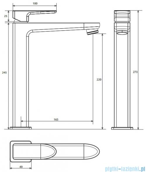 Omnires Siena bateria umywalkowa wysoka chrom SN7312CR