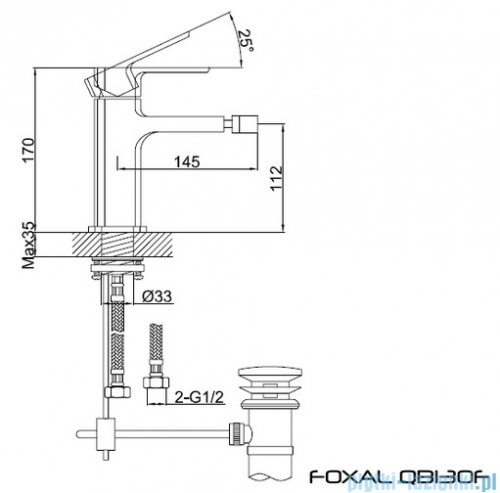 Kohlman Foxal bateria bidetowa QB130F