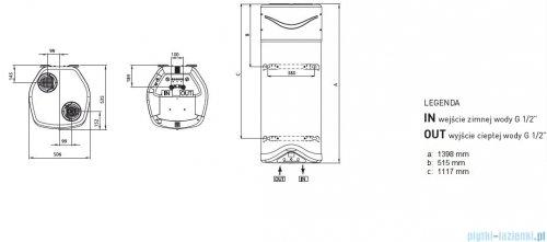 Ariston wisząca pompa ciepła do podgrzewania wody 110 Nuos EVO 3603545